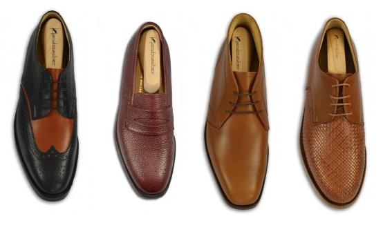 handgenagelte Schuhe beim Massschneider