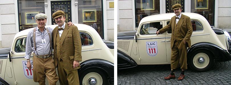 Oldtimerbekleidung Shooting in Moskau