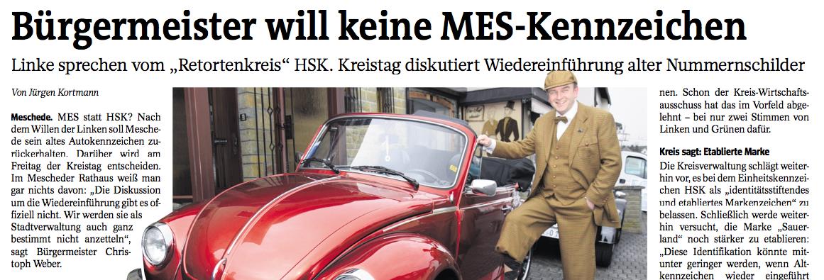Zeitungsbericht Oldtimerbekleidung Michael Isenberg